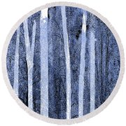 Trees Vertical Round Beach Towel
