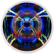 Treescape Abstract II Round Beach Towel