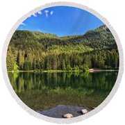 Trentino - Caprioli Lake Round Beach Towel