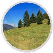 Trentino - Val Di Sole Round Beach Towel