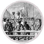 Trenton: Prisoners, 1776 Round Beach Towel