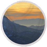 Trevenque Mountain  2079 M Round Beach Towel