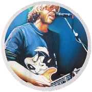 Trey Anastasio And Lights Round Beach Towel