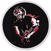 Trey Anastasio In Pink Round Beach Towel