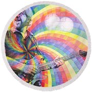 Trey Anastasio Rainbow Round Beach Towel