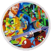 Trey Kandinsky  Round Beach Towel
