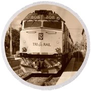 Tri Rail 808 Round Beach Towel