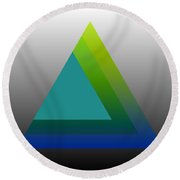 Triangle Abstract Green Blue Round Beach Towel