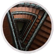 Triangle Staircase Round Beach Towel