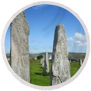 Triangular Callanish Stone Round Beach Towel