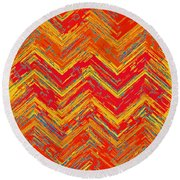 Tribal Pattern 019 Round Beach Towel
