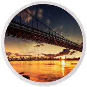 Triboro Sunset Round Beach Towel