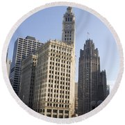 Tribune Tower Chicago Round Beach Towel