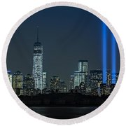 Tribute In Light 2013 Round Beach Towel