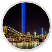 Tribute Lights From Brooklyn Round Beach Towel