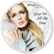 Tribute Mindy Mccready Guys Do It All The Time Round Beach Towel