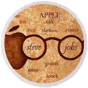 Tribute To Steve Jobs 2 Digital Art Round Beach Towel