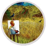 Tribute To Vincent Van Gogh - His Final Days Round Beach Towel