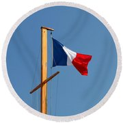Tricolore Flag Round Beach Towel