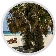 Trincomalee Palms Round Beach Towel