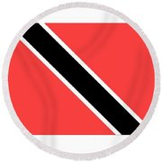 Trinidad And Tobago Flag Round Beach Towel