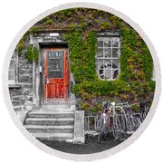 Trinity College Dorm - Dublin Ireland Round Beach Towel