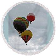 Trio Of Balloons 2 Round Beach Towel