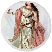 Tristan And Isolde, 1865 Round Beach Towel