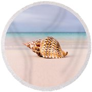 Triton Seashell Round Beach Towel