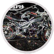 Triumph Abstract Round Beach Towel