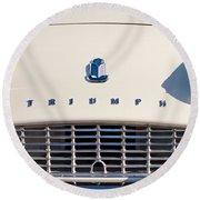 Triumph Tr3 Grille Emblem Round Beach Towel