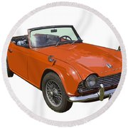 Triumph Tr4 - British - Sports Car Round Beach Towel