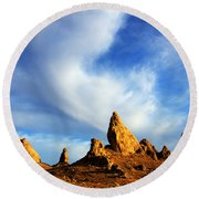 Trona Pinnacles California Round Beach Towel by Bob Christopher