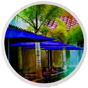 Tropical Al Fresco Round Beach Towel