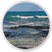 Tropical Beach Seascape Art Prints Round Beach Towel