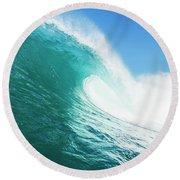 Tropical Blue Ocean Wave Round Beach Towel