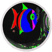 Tropical Cave Fish 1 Round Beach Towel