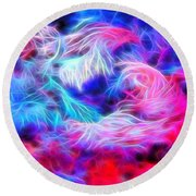 Tropical Coral Reef Round Beach Towel