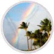 Tropical Dreamin' Round Beach Towel