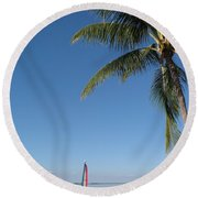 Tropical Feeling Round Beach Towel