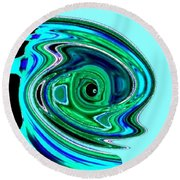 Tropical Fish Abstract Round Beach Towel