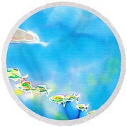 Tropical Fishes Round Beach Towel