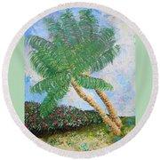 Tropical Flair Round Beach Towel