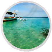 Tropical Getaway Round Beach Towel