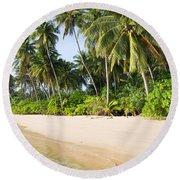 Tropical Island Beach Scenery Round Beach Towel