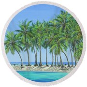 Tropical Lagoon Round Beach Towel