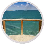 Tropical Lookout Round Beach Towel