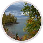Tropical Mountain Ash Round Beach Towel
