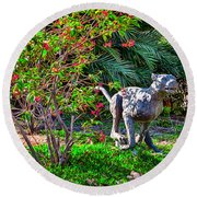 Tropical Mountain Lion Round Beach Towel