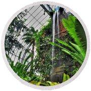 Tropical Paradise Falling Waters Buffalo Botanical Gardens Series   Round Beach Towel